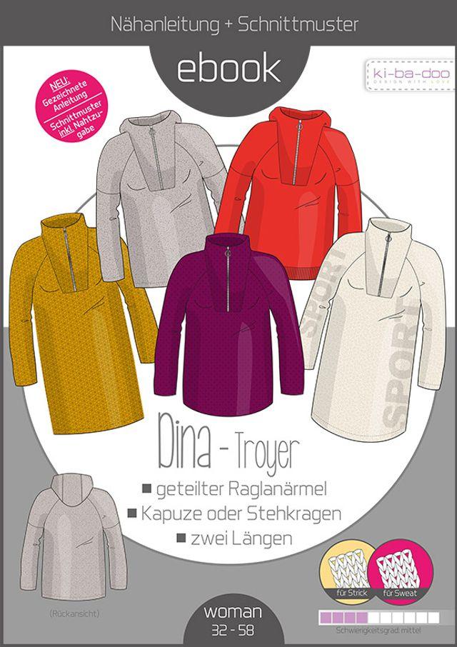 Produktfoto von ki-ba-doo zum Nähen für Schnittmuster Sweater/Troyer Dina