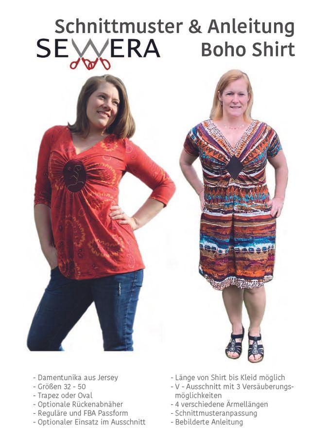 Produktfoto von sewera zum Nähen für Schnittmuster Boho Shirt
