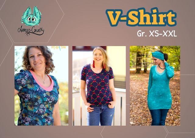 Produktfoto von Annas-Country zum Nähen für Schnittmuster V-Shirt