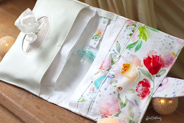 Produktfoto von The Crafting Café zum Nähen für Schnittmuster Windeltasche Mika
