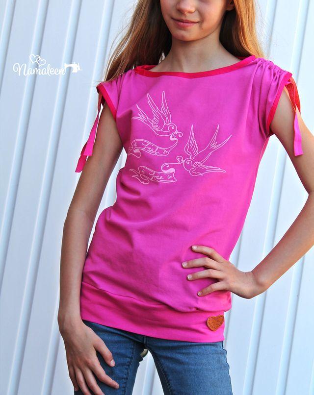 Produktfoto von The Crafting Café zum Nähen für Schnittmuster Mädchenshirt Lolita