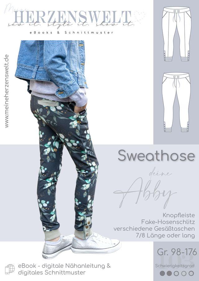 Produktfoto von Meine Herzenswelt zum Nähen für Schnittmuster Sweathose Kinder - Deine Abby