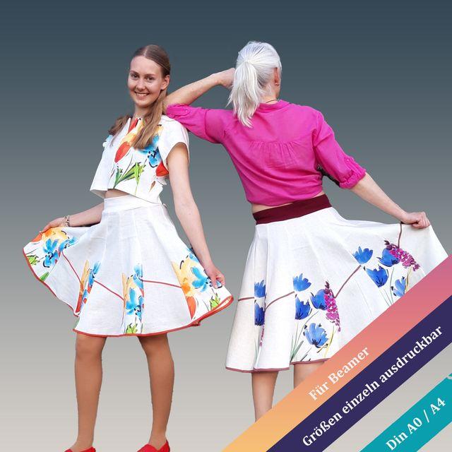 Produktfoto von Unendlich schön - Design Anita Lüchtefeld zum Nähen für Schnittmuster Bahnenrock Salix