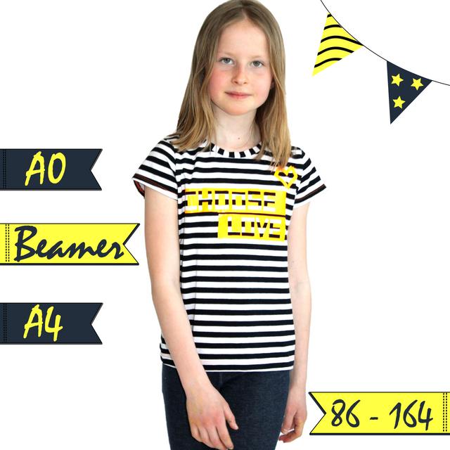 Produktfoto von Anni Nanni zum Nähen für Schnittmuster AnniNanni Mädchenshirt