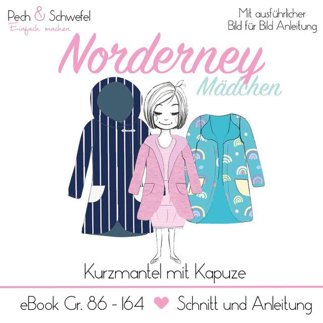 Produktfoto von Pech & Schwefel zum Nähen für Schnittmuster Kurzmantel Norderney Kinder