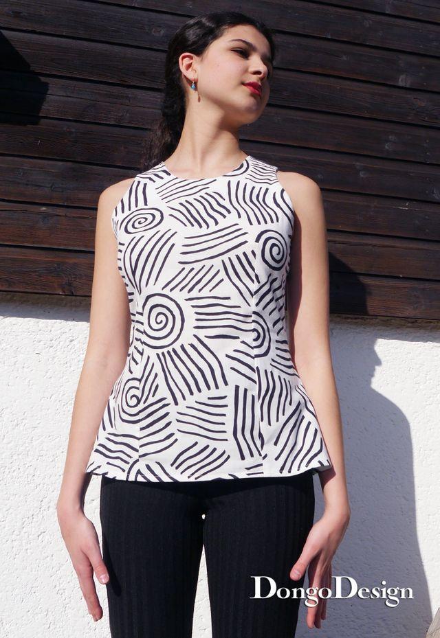 Produktfoto von DongoDesign zum Nähen für Schnittmuster Bluse Rimini