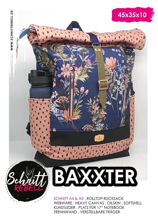 Produktfoto von Schnittrebell zum Nähen für Schnittmuster Rolltop-Rucksack Baxxter