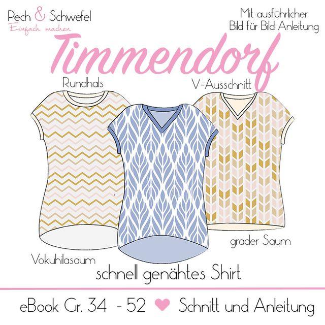 Produktfoto von Pech & Schwefel zum Nähen für Schnittmuster Shirt Timmendorf