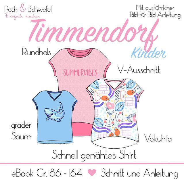 Produktfoto von Pech & Schwefel zum Nähen für Schnittmuster Shirt Timmendorf für Kinder