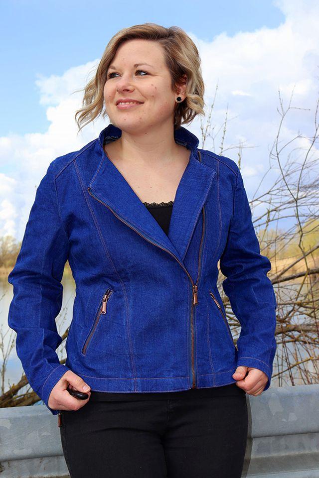 Produktfoto von SchnittmusterLounge zum Nähen für Schnittmuster Jacke Biker-Lola