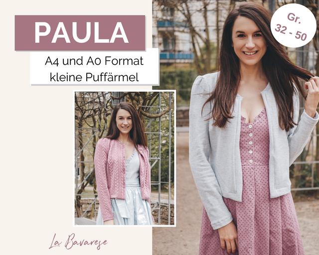 Produktfoto von La Bavarese zum Nähen für Schnittmuster Strickjacke Paula