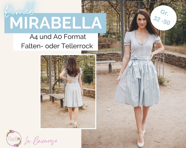 Produktfoto von La Bavarese zum Nähen für Schnittmuster Dirndlkleid Mirabella