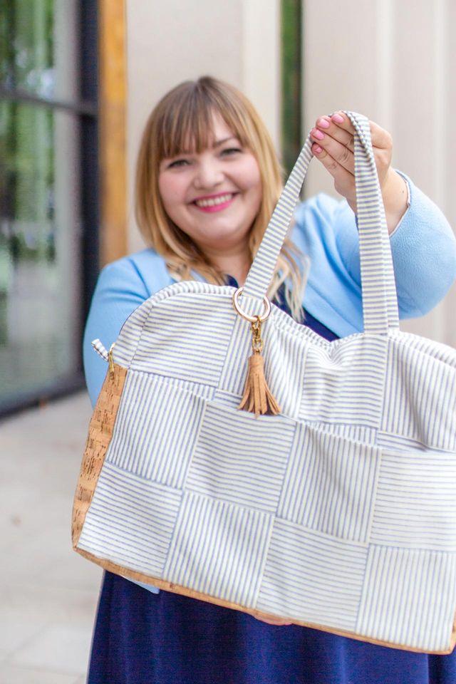 Produktfoto von Yes, Honey zum Nähen für Schnittmuster Laptoptasche #busybeebag