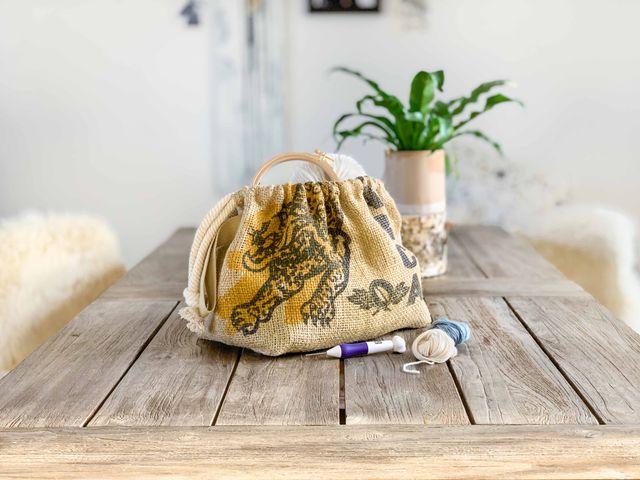 Produktfoto von Yes, Honey zum Nähen für Schnittmuster Beutel #coffeetogo