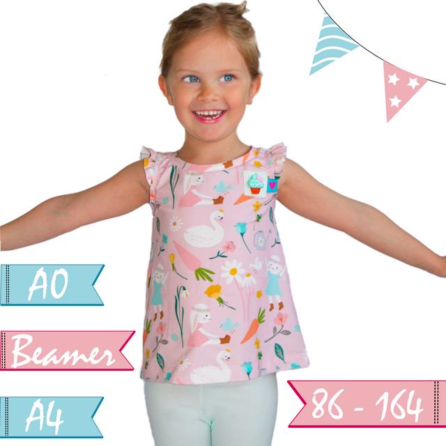 Produktfoto von Anni Nanni zum Nähen für Schnittmuster AnniNanni Kinder/Mädchentop