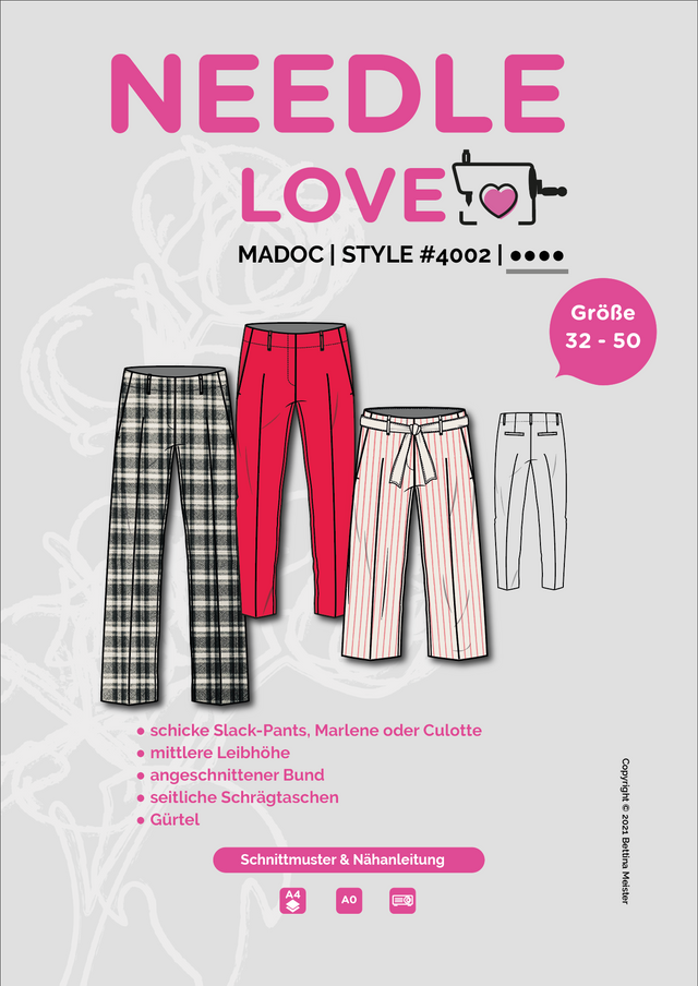 Produktfoto von {NEEDLE LOVE} zum Nähen für Schnittmuster MADOCpants