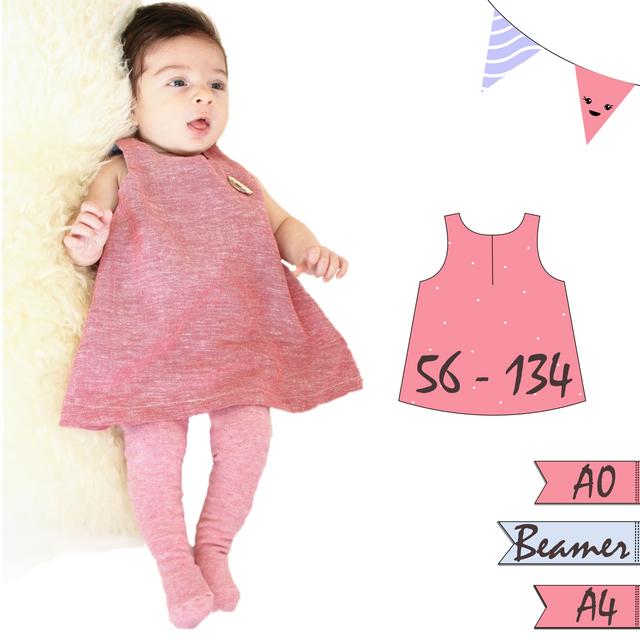 Produktfoto von Anni Nanni zum Nähen für Schnittmuster Kinder//Leinenkleid