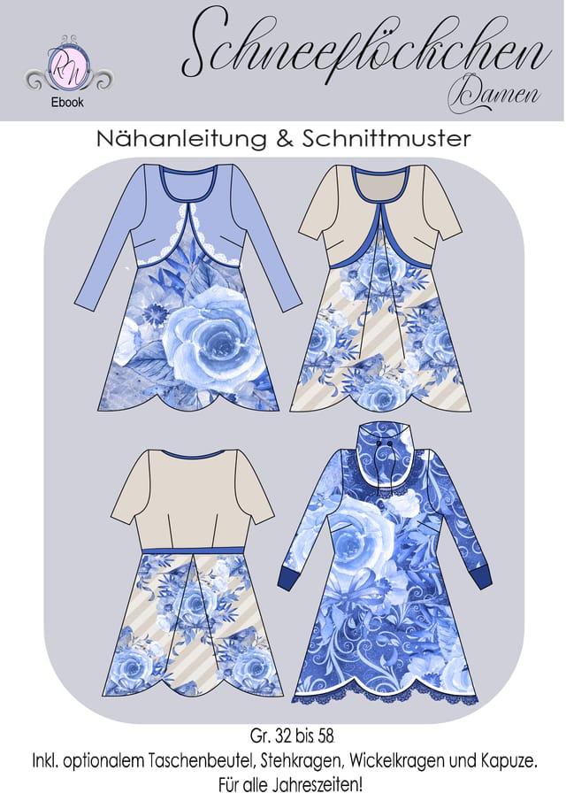Produktfoto von Rosalieb & Wildblau zum Nähen für Schnittmuster Tunika Schneeflöckchen Damen
