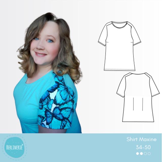 Produktfoto von Berlinerie zum Nähen für Schnittmuster Sattelschulter Shirt