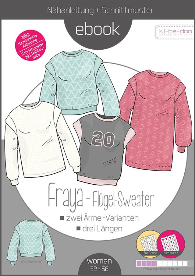 Produktfoto von ki-ba-doo zum Nähen für Schnittmuster Flügel-Sweater Fraya