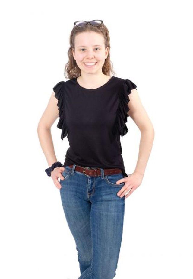 Produktfoto von Zierstoff zum Nähen für Schnittmuster Shirt Roxanne 158-46