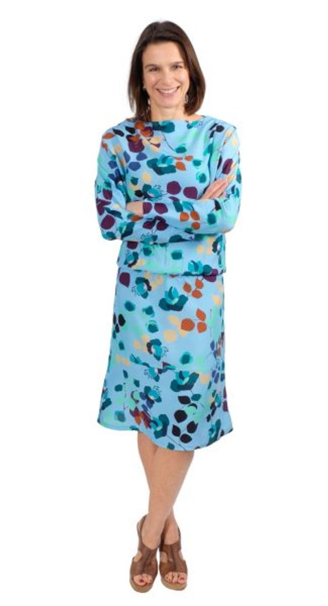 Produktfoto von Zierstoff zum Nähen für Schnittmuster Kleid Carmen 158-46