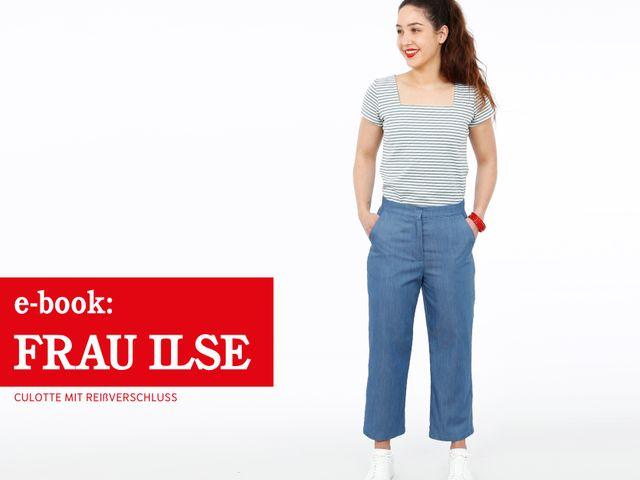 Produktfoto von STUDIO SCHNITTREIF zum Nähen für Schnittmuster Culotte Frau Ilse