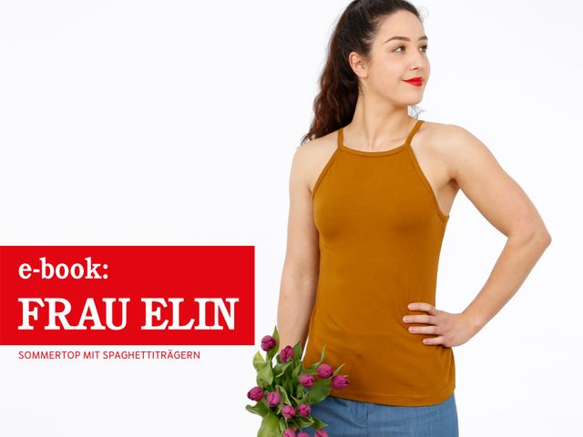 Produktfoto von STUDIO SCHNITTREIF zum Nähen für Schnittmuster Sommertop Frau Elin