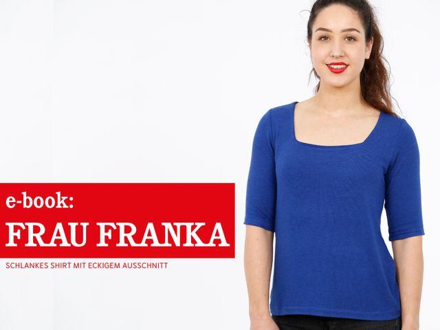 Produktfoto von STUDIO SCHNITTREIF zum Nähen für Schnittmuster Shirt Frau Franka