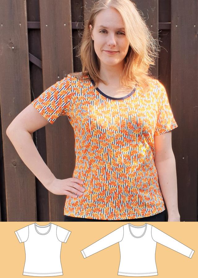 Produktfoto von Schneidermeer zum Nähen für Schnittmuster Shirt Maja