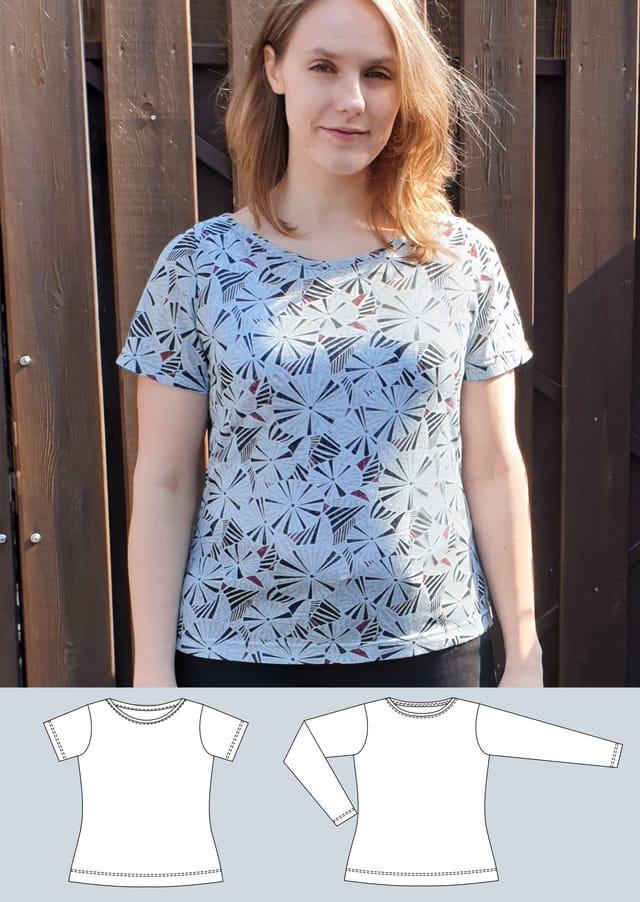 Produktfoto von Schneidermeer zum Nähen für Schnittmuster Shirt Lea