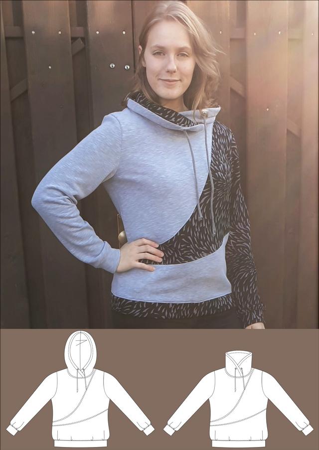 Produktfoto von Schneidermeer zum Nähen für Schnittmuster Hoodie Lara