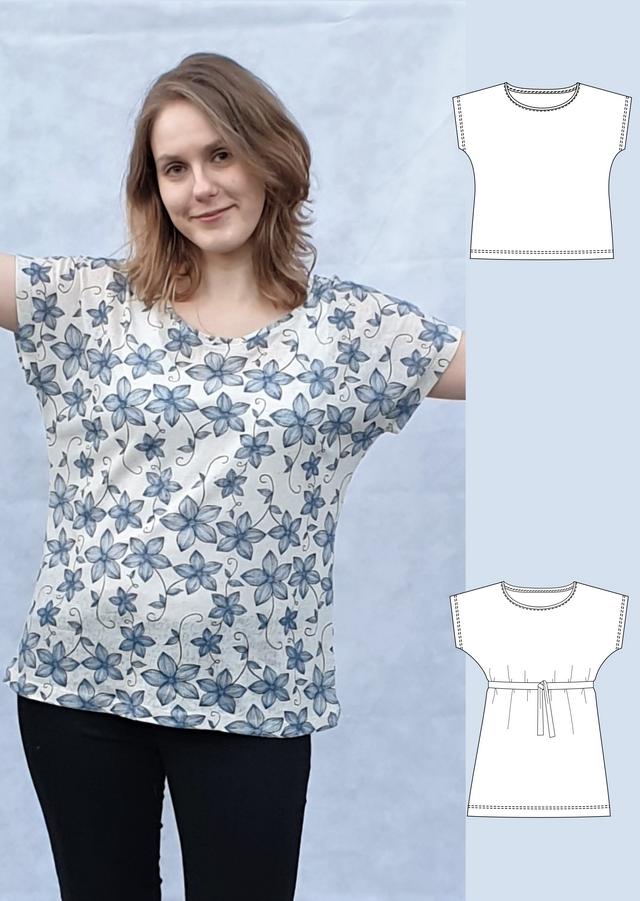 Produktfoto von Schneidermeer zum Nähen für Schnittmuster Shirt Lilly