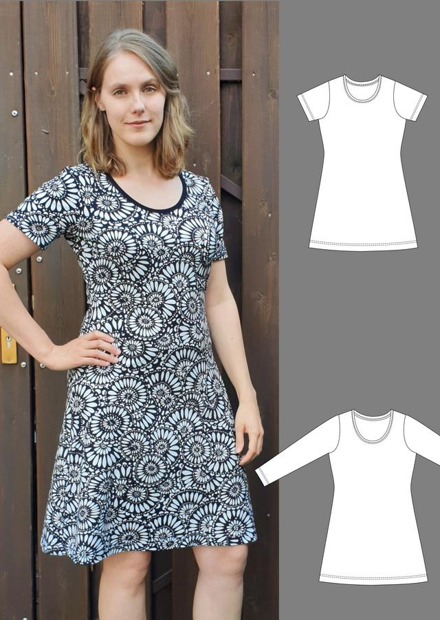 Produktfoto von Schneidermeer zum Nähen für Schnittmuster Jerseykleid Lola