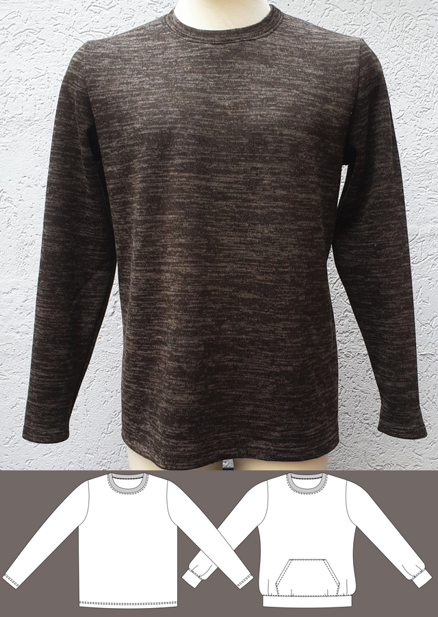 Produktfoto von Schneidermeer zum Nähen für Schnittmuster Pullover Tom