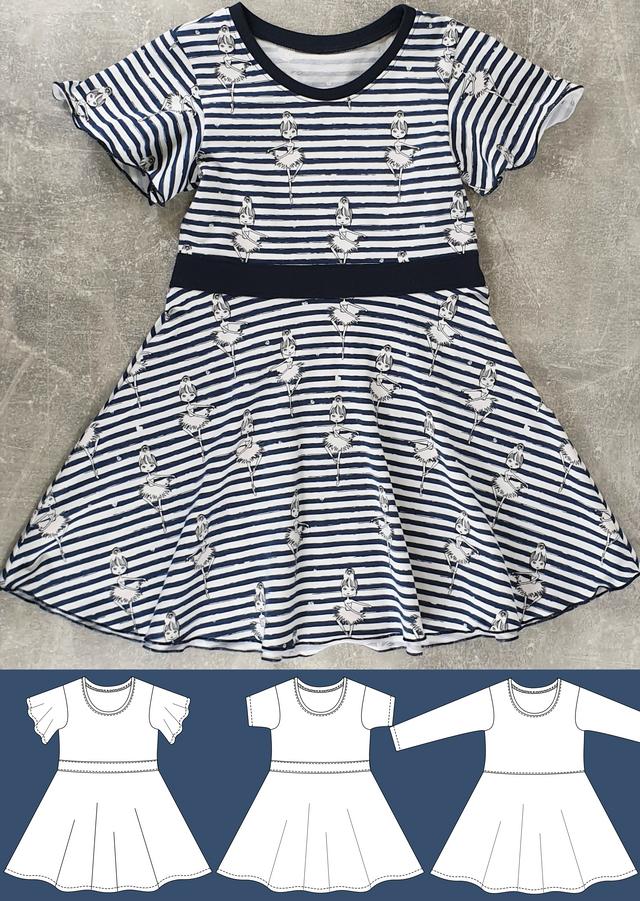 Produktfoto von Schneidermeer zum Nähen für Schnittmuster Mädchenkleid Bella