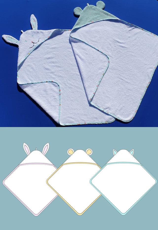 Produktfoto von Schneidermeer zum Nähen für Schnittmuster Kapuzenbadetuch