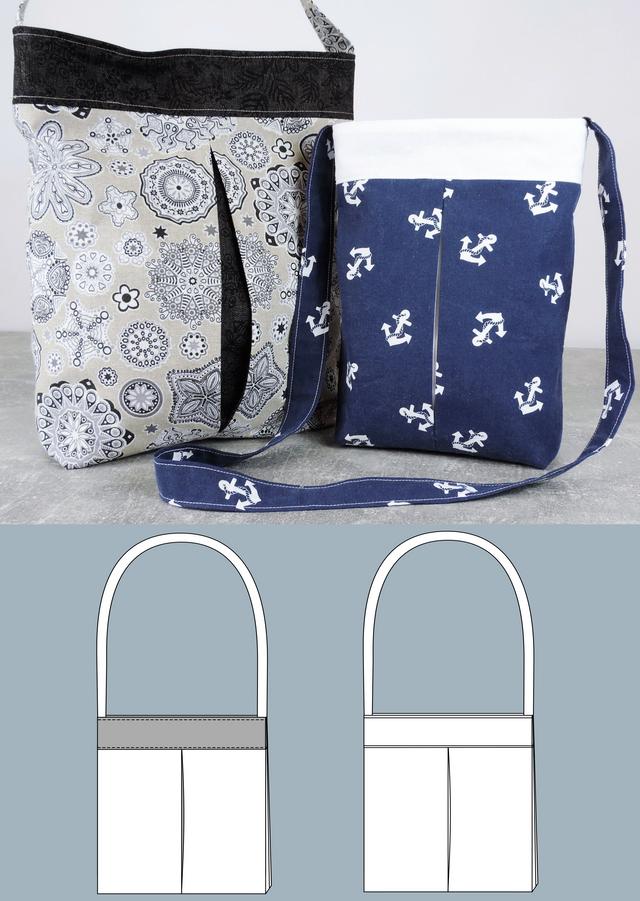 Produktfoto von Schneidermeer zum Nähen für Schnittmuster Tasche Lizzy