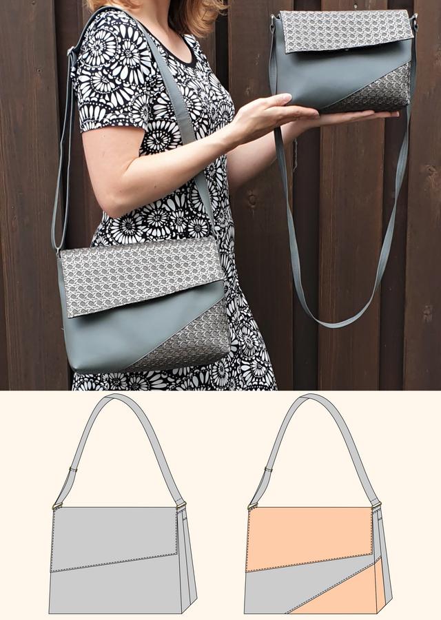 Produktfoto von Schneidermeer zum Nähen für Schnittmuster Handtasche Chloe