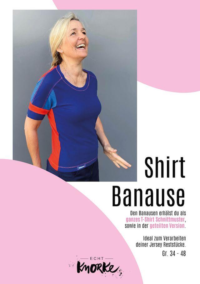 Produktfoto von echt Knorke zum Nähen für Schnittmuster Shirt Der Banause