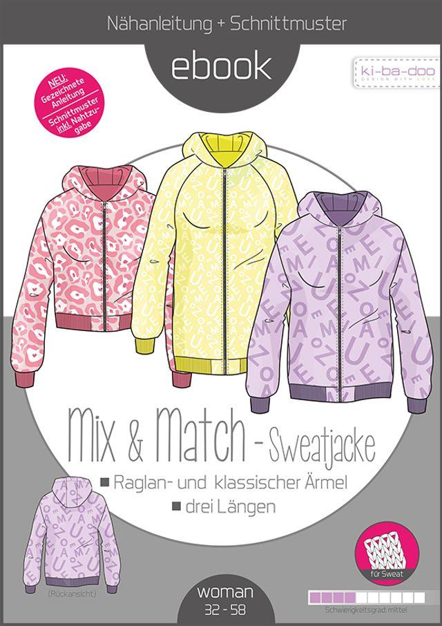 Produktfoto von ki-ba-doo zum Nähen für Schnittmuster Mix & Match Sweatjacke
