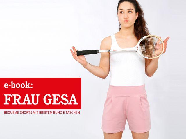 Produktfoto von STUDIO SCHNITTREIF zum Nähen für Schnittmuster Shorts Frau Gesa