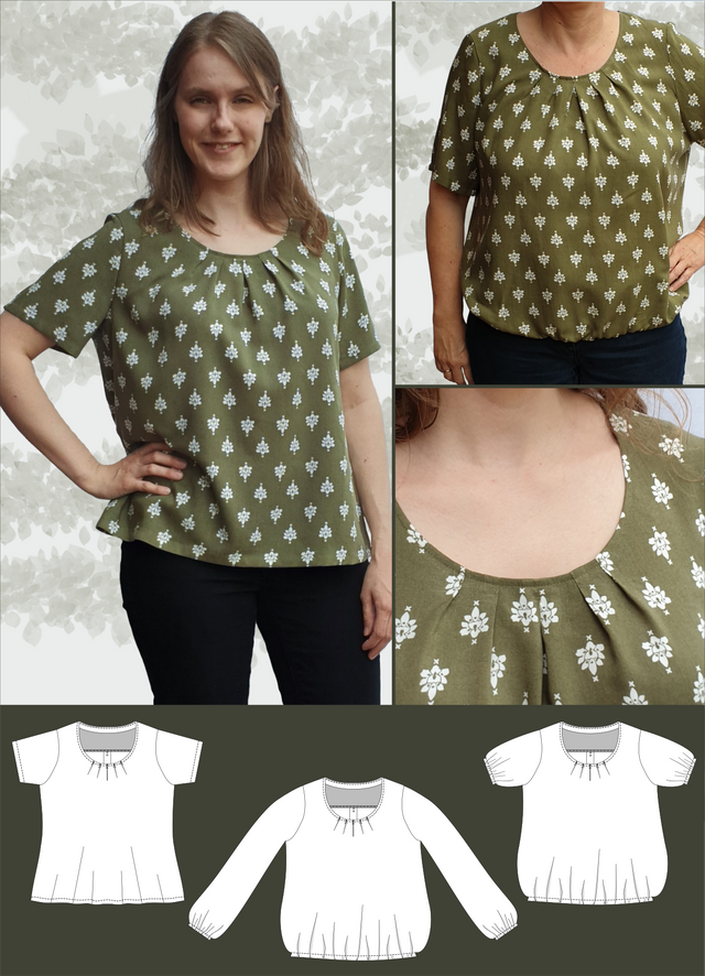 Produktfoto von Schneidermeer zum Nähen für Schnittmuster Bluse Betty