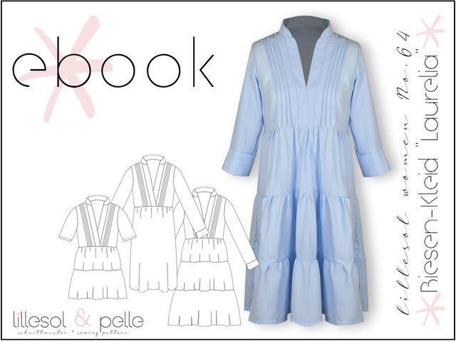 """Produktfoto von Lillesol & Pelle zum Nähen für Schnittmuster lillesol women No.64 Biesen-Kleid & Tunika """"Laurelia"""""""