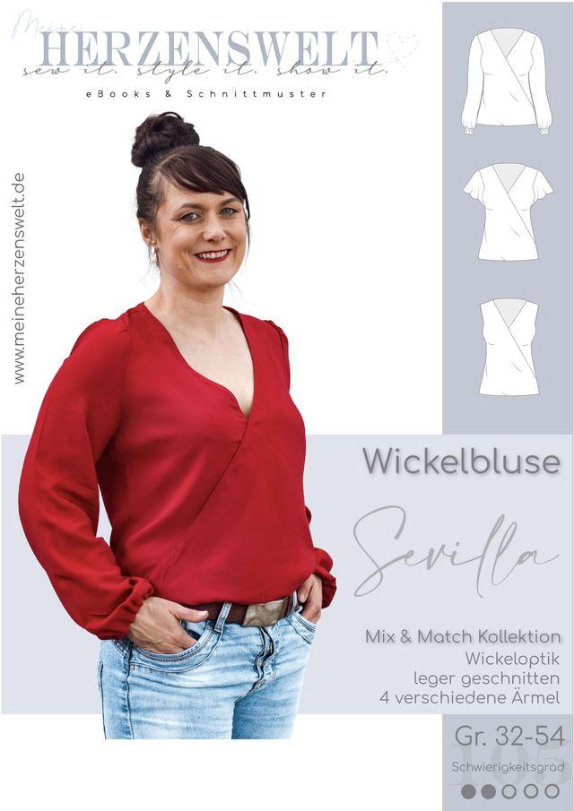 Produktfoto von Meine Herzenswelt zum Nähen für Schnittmuster Bluse Damen - Sevilla