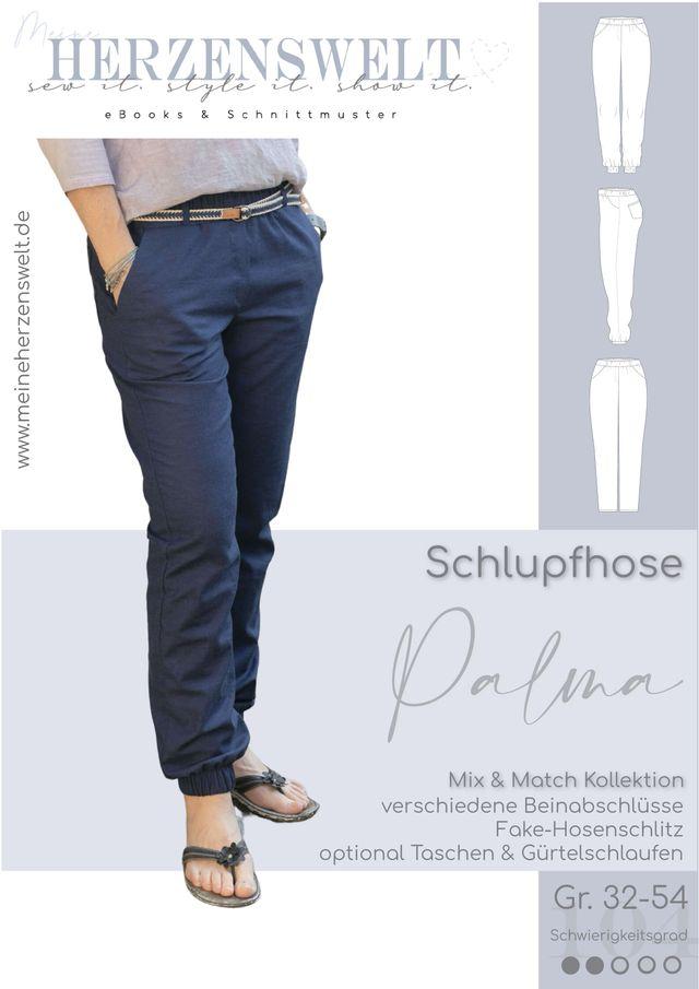 Produktfoto von Meine Herzenswelt zum Nähen für Schnittmuster Hose Damen - Palma