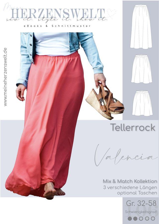 Produktfoto von Meine Herzenswelt zum Nähen für Schnittmuster Rock Damen - Valencia