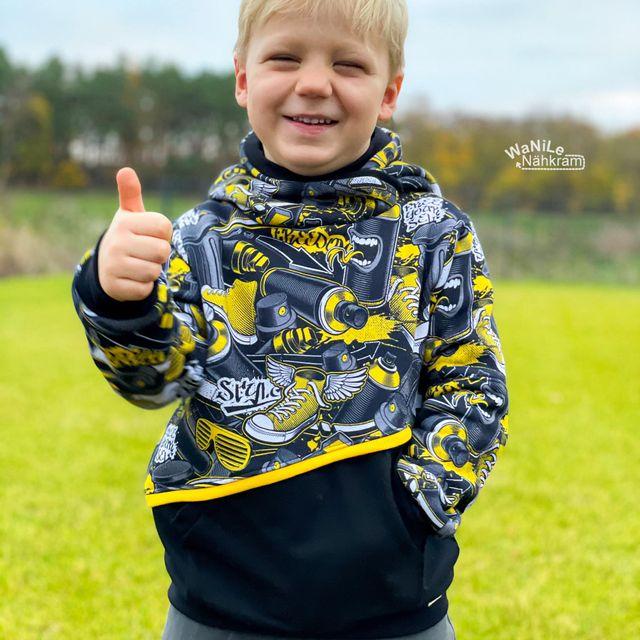 Produktfoto von Näh Bärchen zum Nähen für Schnittmuster HoodMe Up Maxi