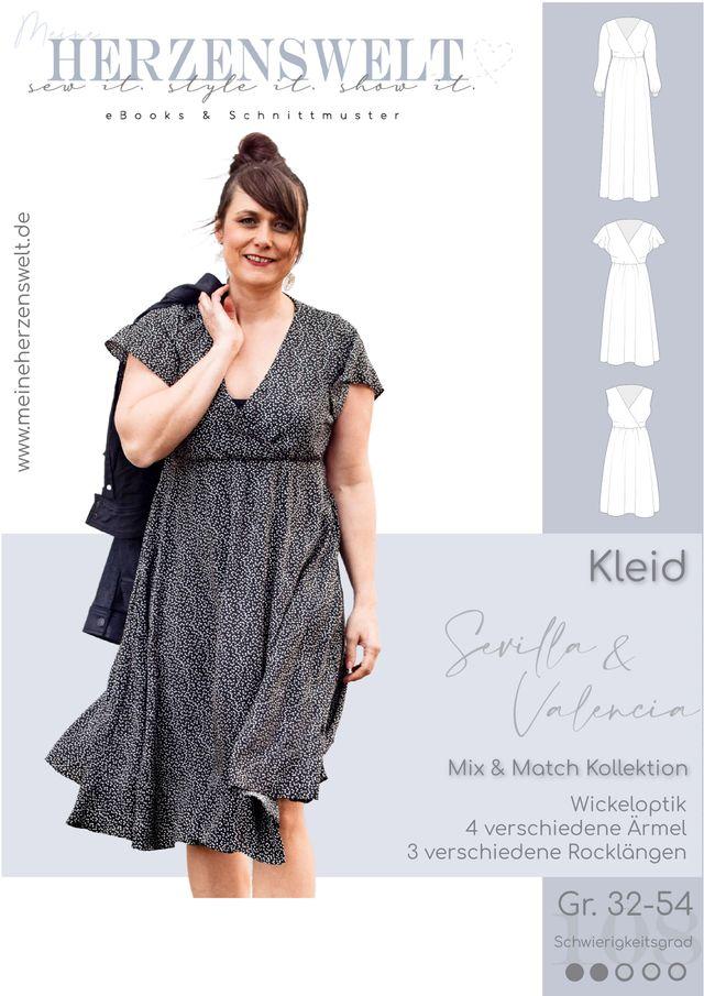Produktfoto von Meine Herzenswelt zum Nähen für Schnittmuster Kleid Damen - Sevilla & Valencia