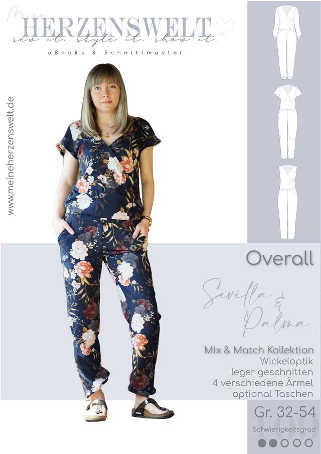 Produktfoto von Meine Herzenswelt zum Nähen für Schnittmuster Overall Damen - Sevilla & Palma